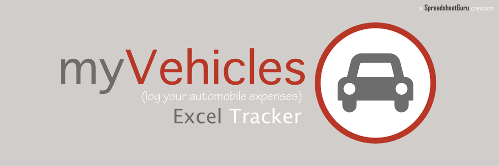 myVehicles Vehicle Expense Log Spreadsheet For Microsoft Excel