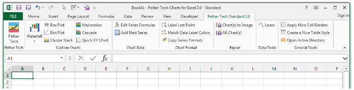 Peltier Tech Chart Utility Excel Add-in