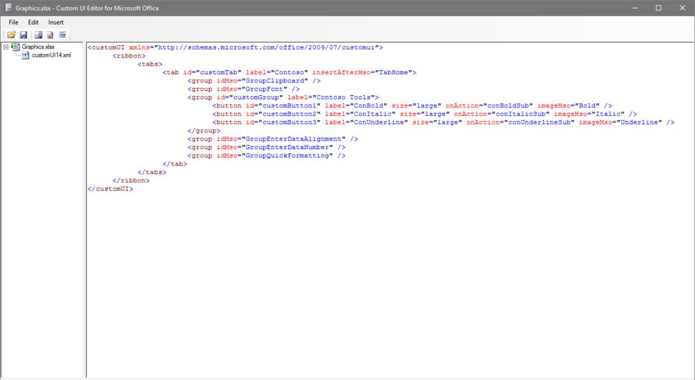 Custom UI Microsoft Ribbon Editor