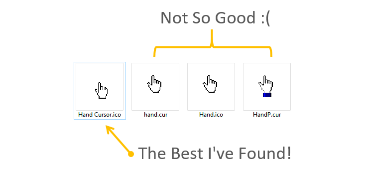 Userform Hand Cursor Icon