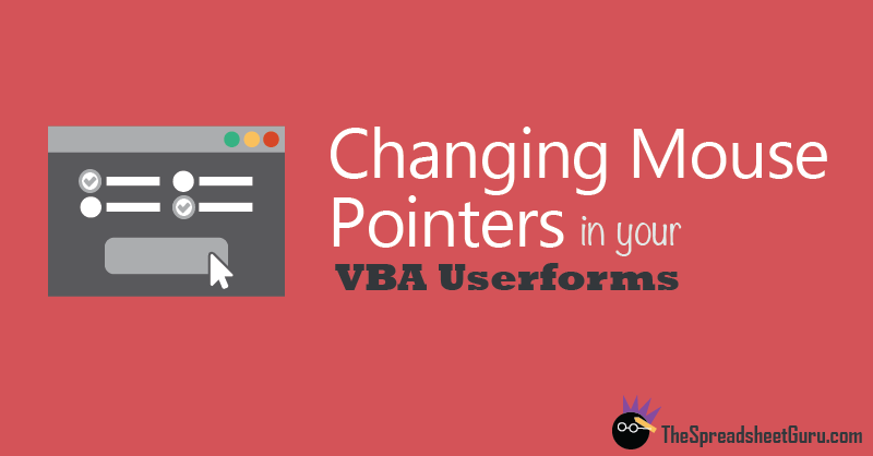 VBA Userform Change Mouse Pointer On Hover