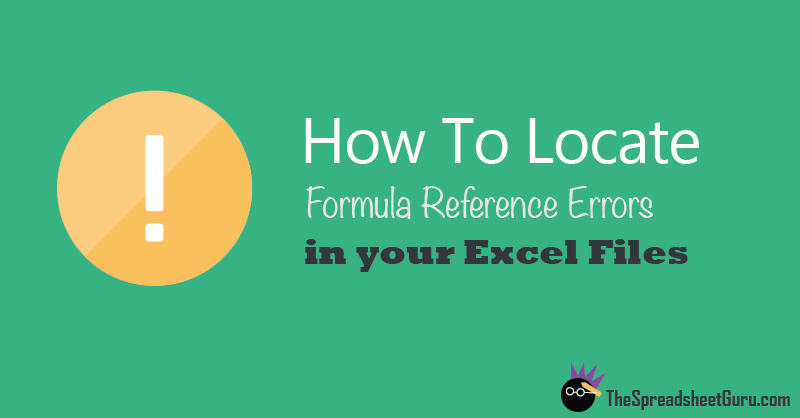 Fix Excel Found A Problem With Formula References In This Worksheet ...