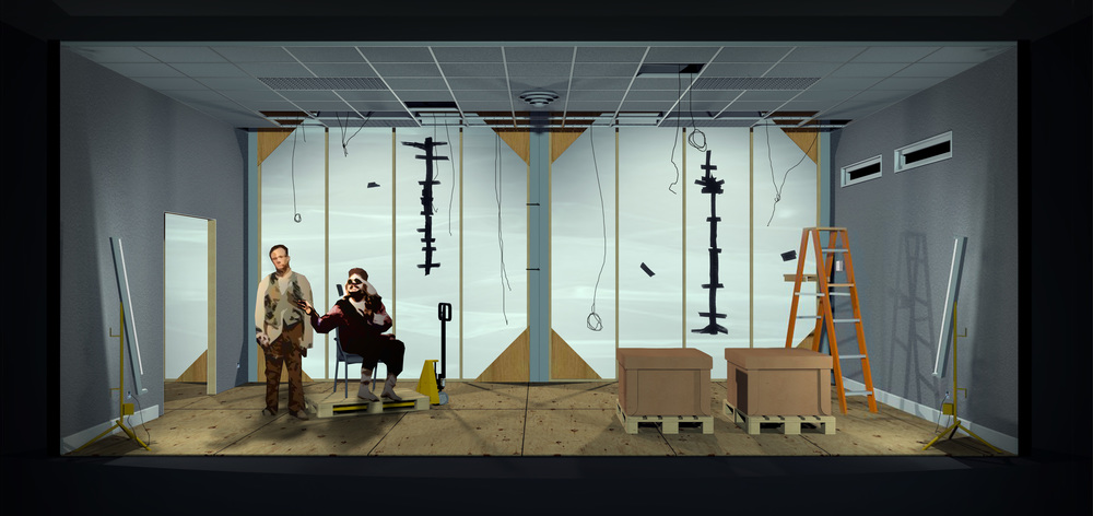 Endgame  by Samuel Beckett. Vectorworks. 2012 (unrealized)