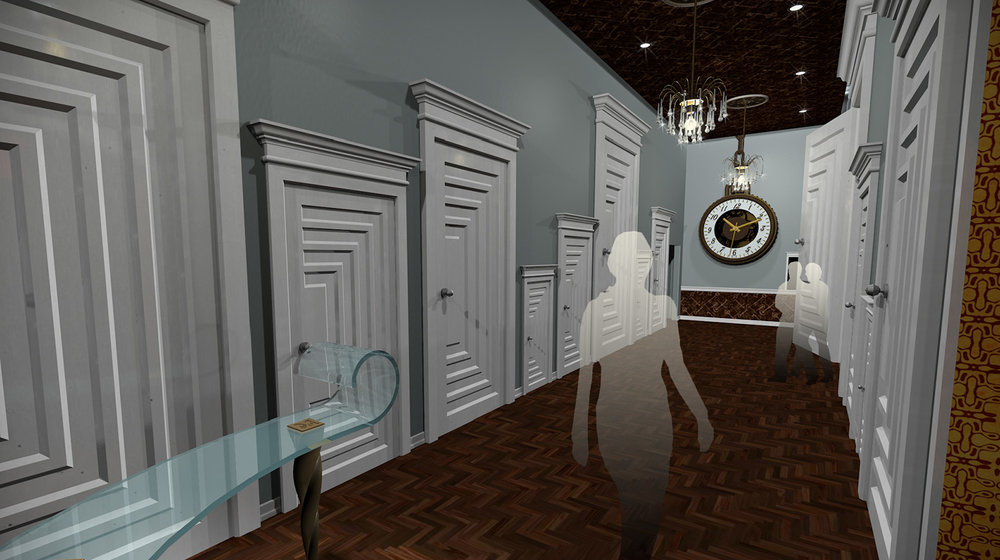 andy   broomell   mirabili   alice in wonderland   themed   restaurant   design   vectorworks   photoshop   3d   model   rendering 5