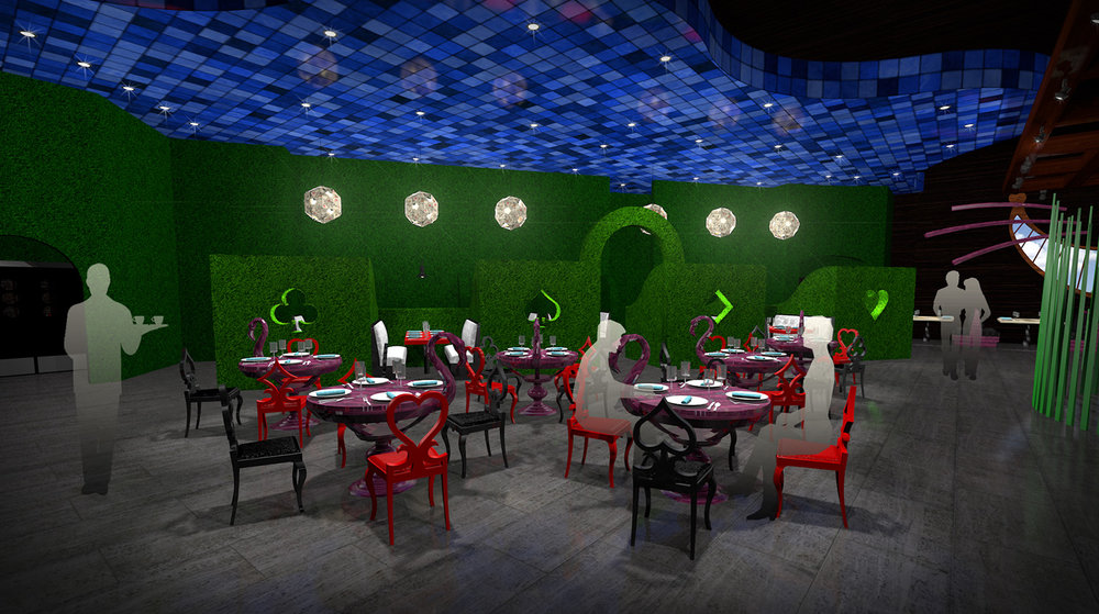 andy   broomell   mirabili   alice in wonderland   themed   restaurant   design   vectorworks   photoshop   3d   model   rendering 14