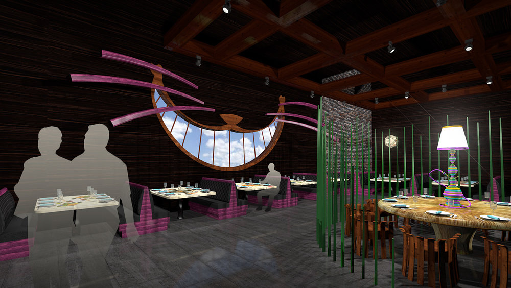 andy   broomell   mirabili   alice in wonderland   themed   restaurant   design   vectorworks   photoshop   3d   model   rendering 23