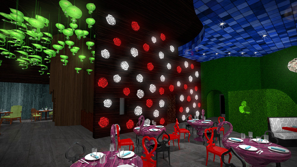 andy   broomell   mirabili   alice in wonderland   themed   restaurant   design   vectorworks   photoshop   3d   model   rendering 16