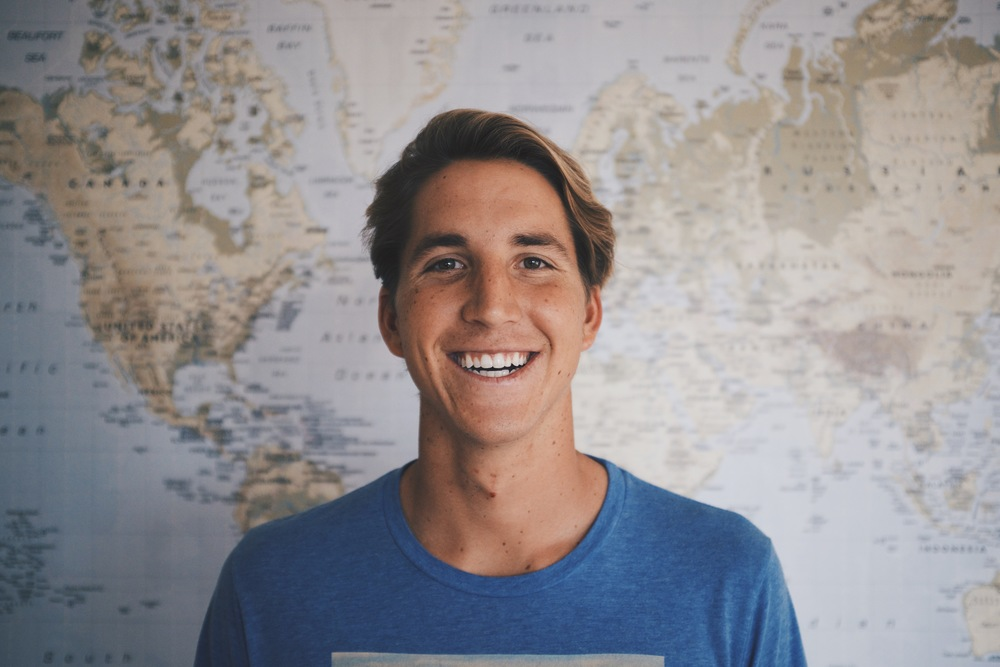 "CONNOR DAVIDGE Role: Co-Founder and CEO of Savidge Passionate about: Jesus, doing things the unconventional way, travel, surfing expeditions, fresh new Tees Downer: Has the artistic ability of a 5 year old Favorite Savidge Tee: Head West(The Bison one!) Fun Fact: He once hitchhiked through the entire country of Uruguay. Favorite Quote: ""Life is either a daring adventure or nothing."" - Helen Keller"