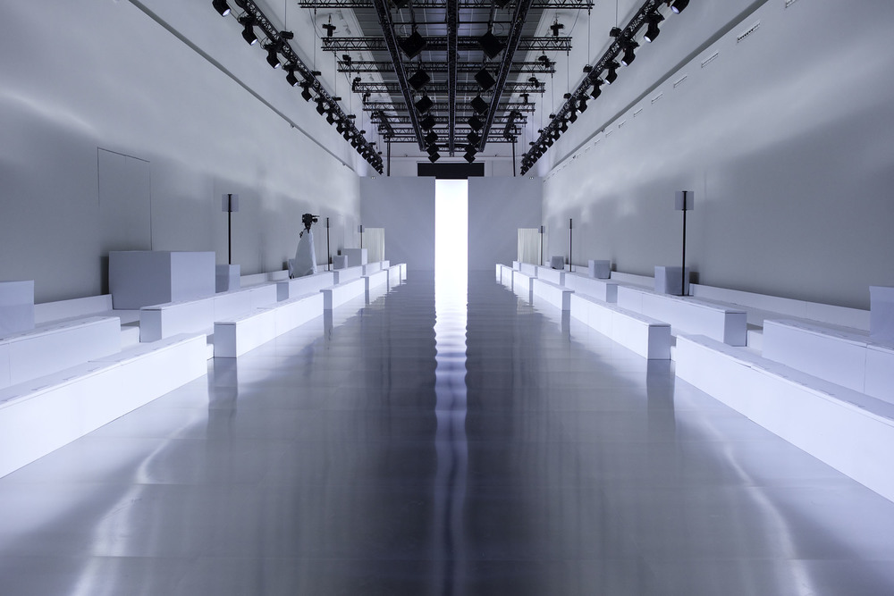 Image of the empty runway for the Paris fashion week Maison Margiela A/W15 collection  Image pulled from http://www.maisonmargiela.com