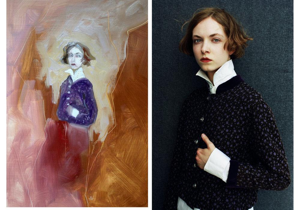 A photography and painting collaboration - between Model/Painter Aneta Vozenilkova &Photographer/Director Balint Nemes