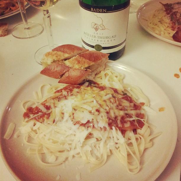 Stefan's wonderful vegetarian spaghetti!