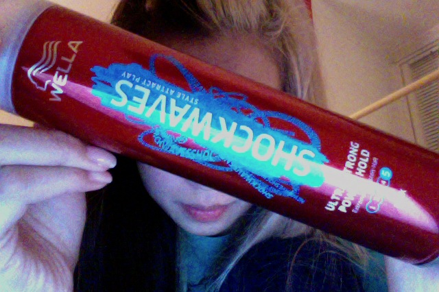 Hair spray.. I think.. Lol