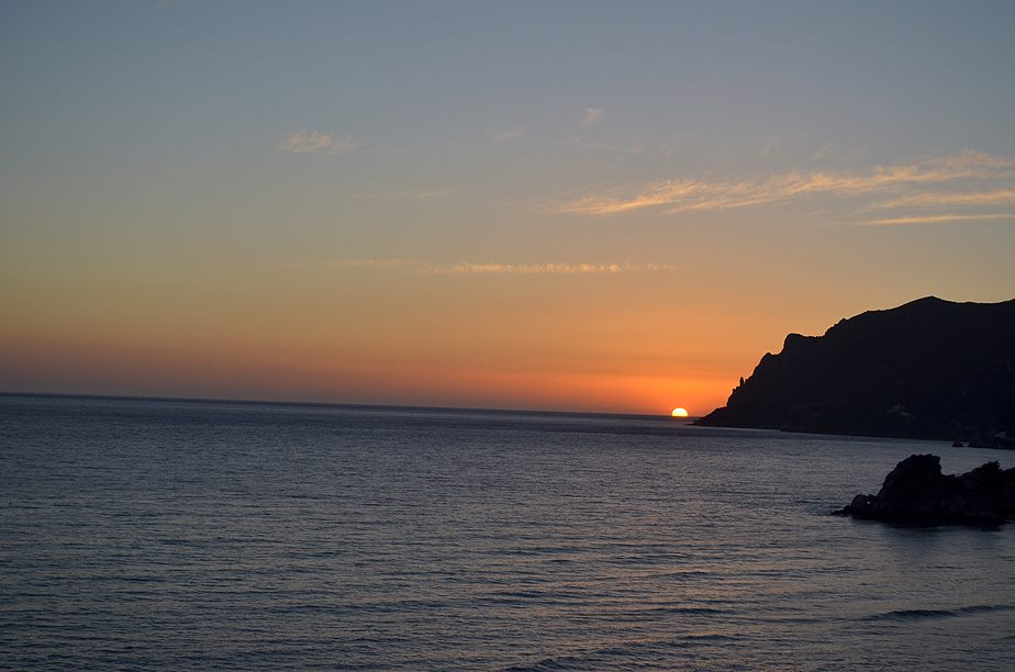 Sunset from our Hostel on Pelekas Beach