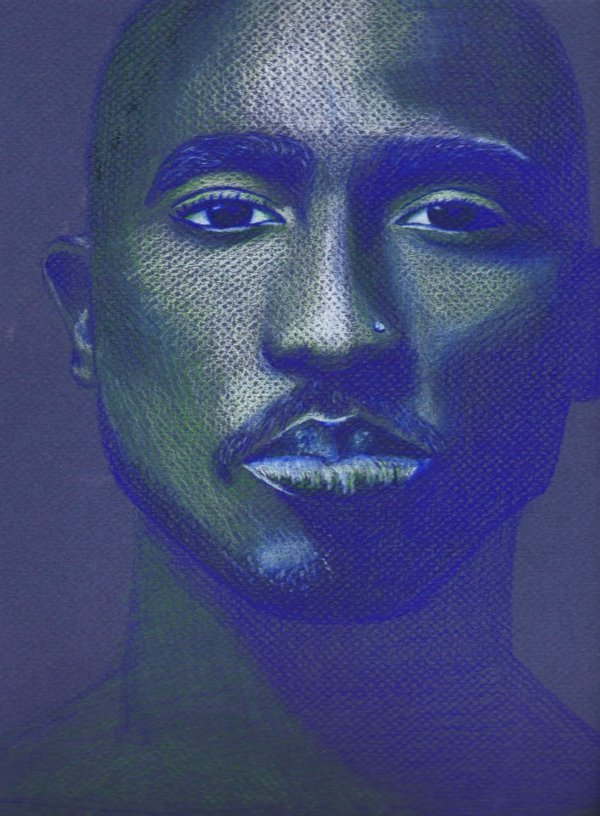 Tupac Shakur, Colored Pencil, 2012