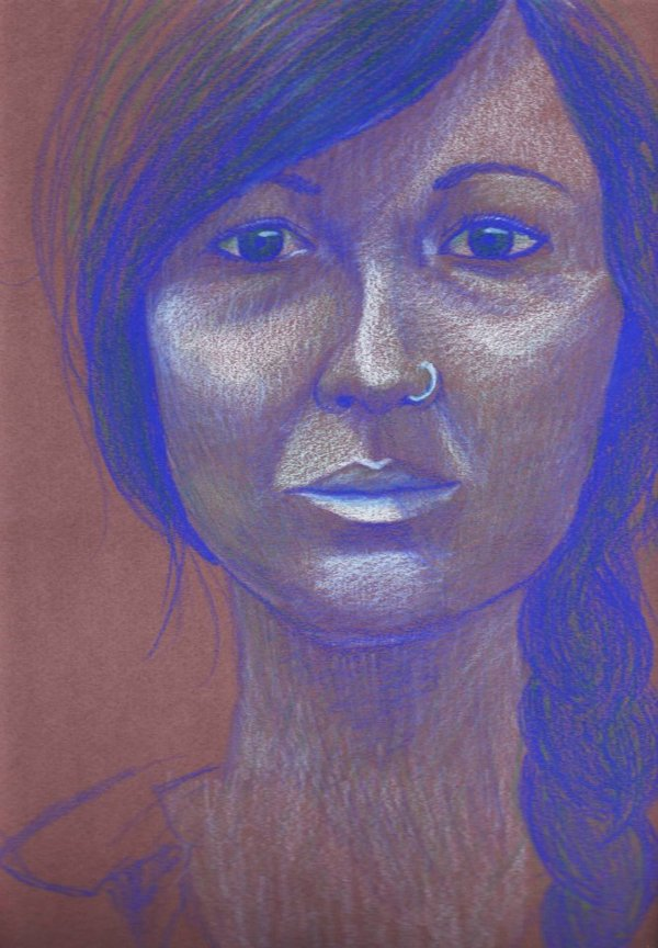 Classmate, Colored pencil, 2012