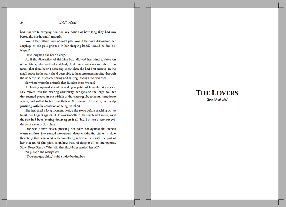 Interior formatting for SONG OF THE SEVERED LORD showing section title, header, and body content