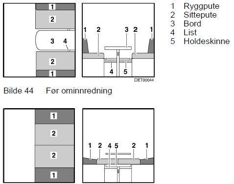 Flott Gjøre om sittegruppe til seng — Bobilbooking.no TF-97