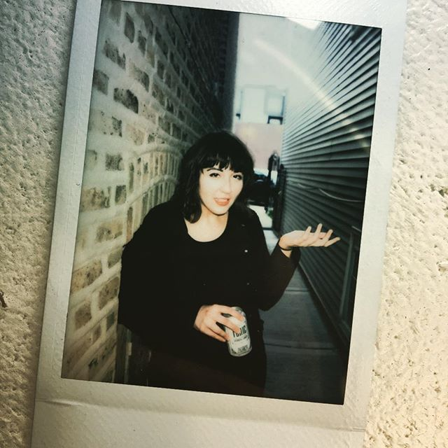 ¯\_(ツ)_/¯ #polaroid #iono #whatever #gothgirl #chicagodiy #chicagomusic #chicagoartist thanks @lunchbox.amp !