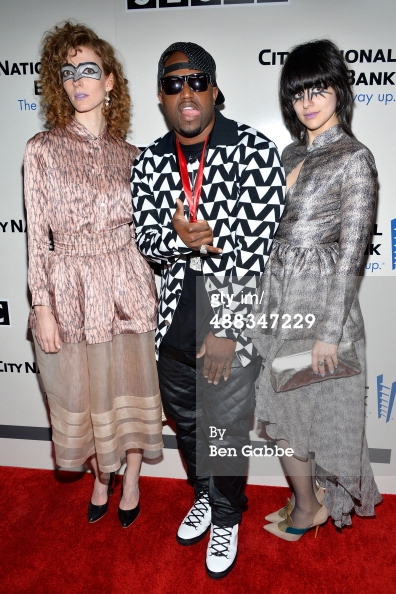 Ann and Lizzie were in attendance at the 2014  SESAC Pop Awards  wearing dresses by NYC designer  Suzanne Rae .   They are featured here on the red carpet with fellow SESAC affiliate  Rico Love .