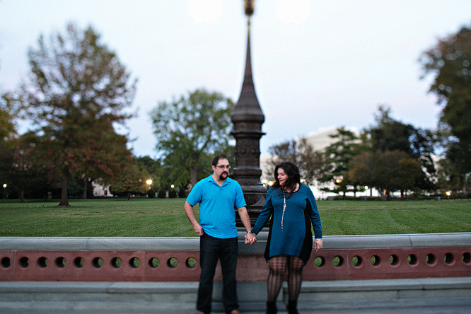 Engagement photography at the Capitol Building
