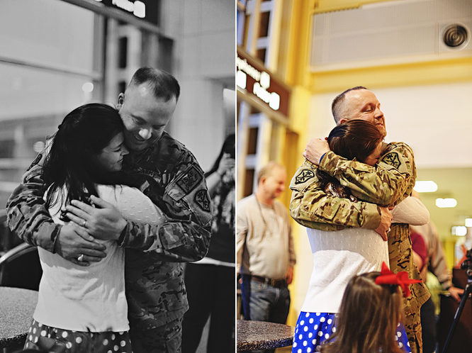 Soldier Hugging Wife