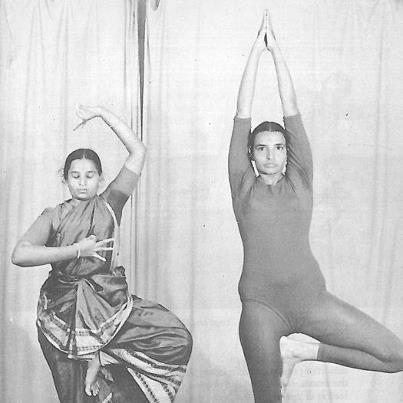 Geeta Iyengar in Vrksasana