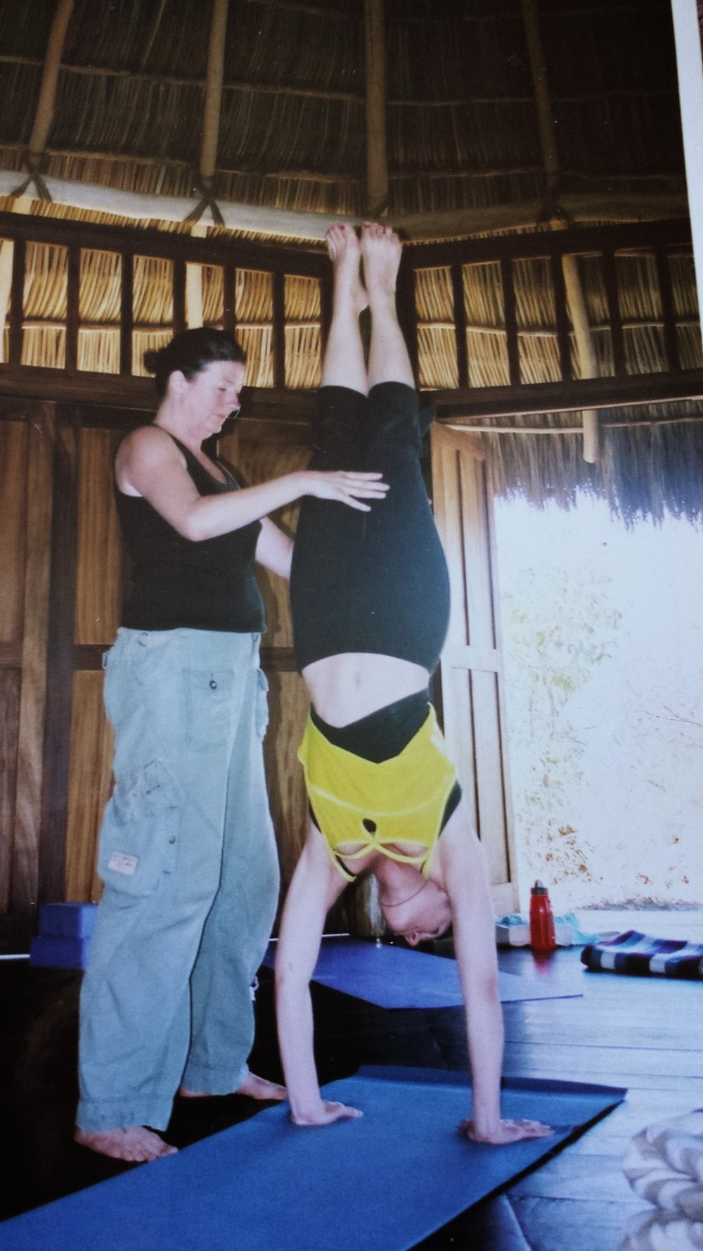 My second yoga retreat with teacher Ann Dyer circa 2002 (thank you Ann!)
