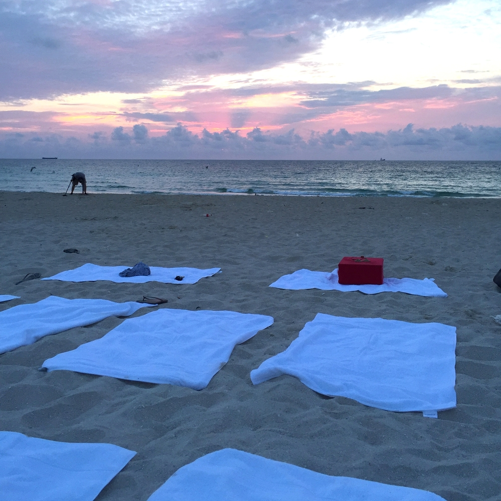 sunrise beach meditations