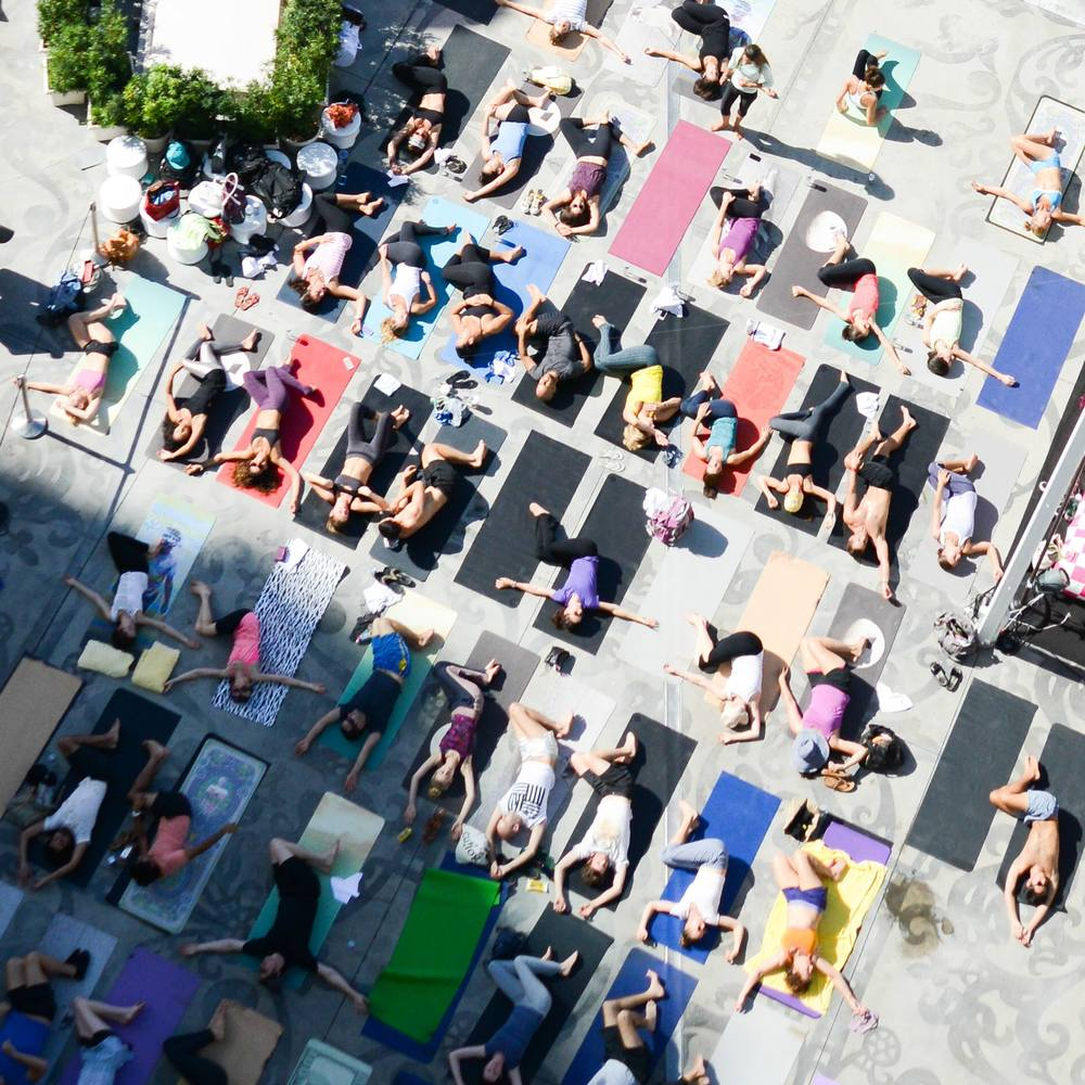 art basel yoga pop-up