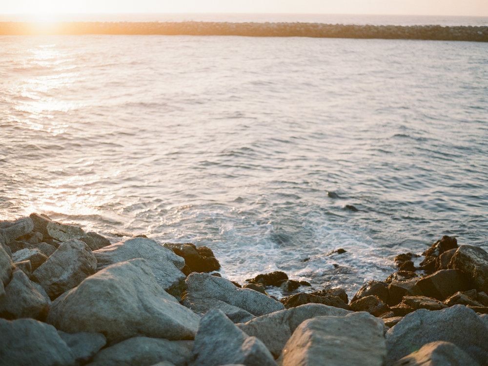 Moss landing beach on film