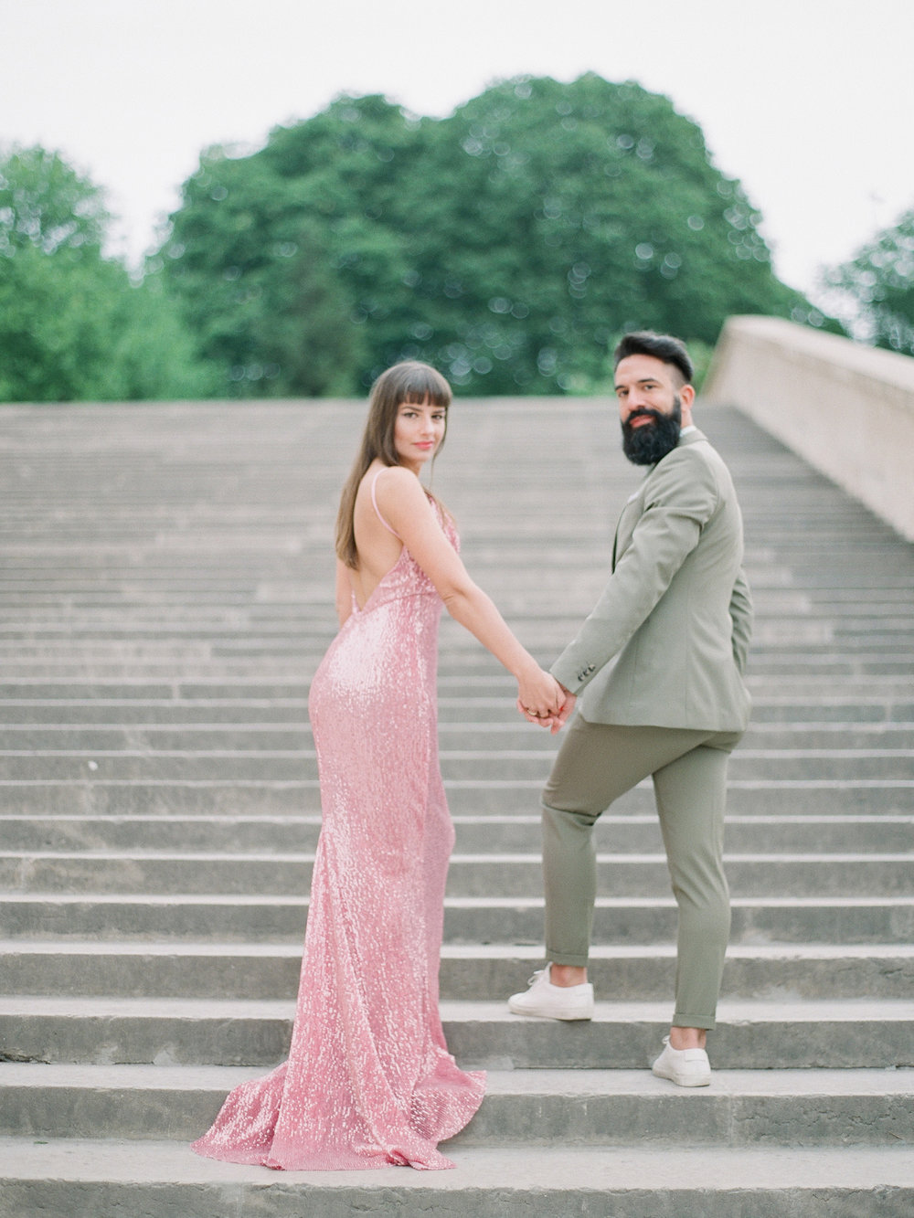 vintage paris engagement session