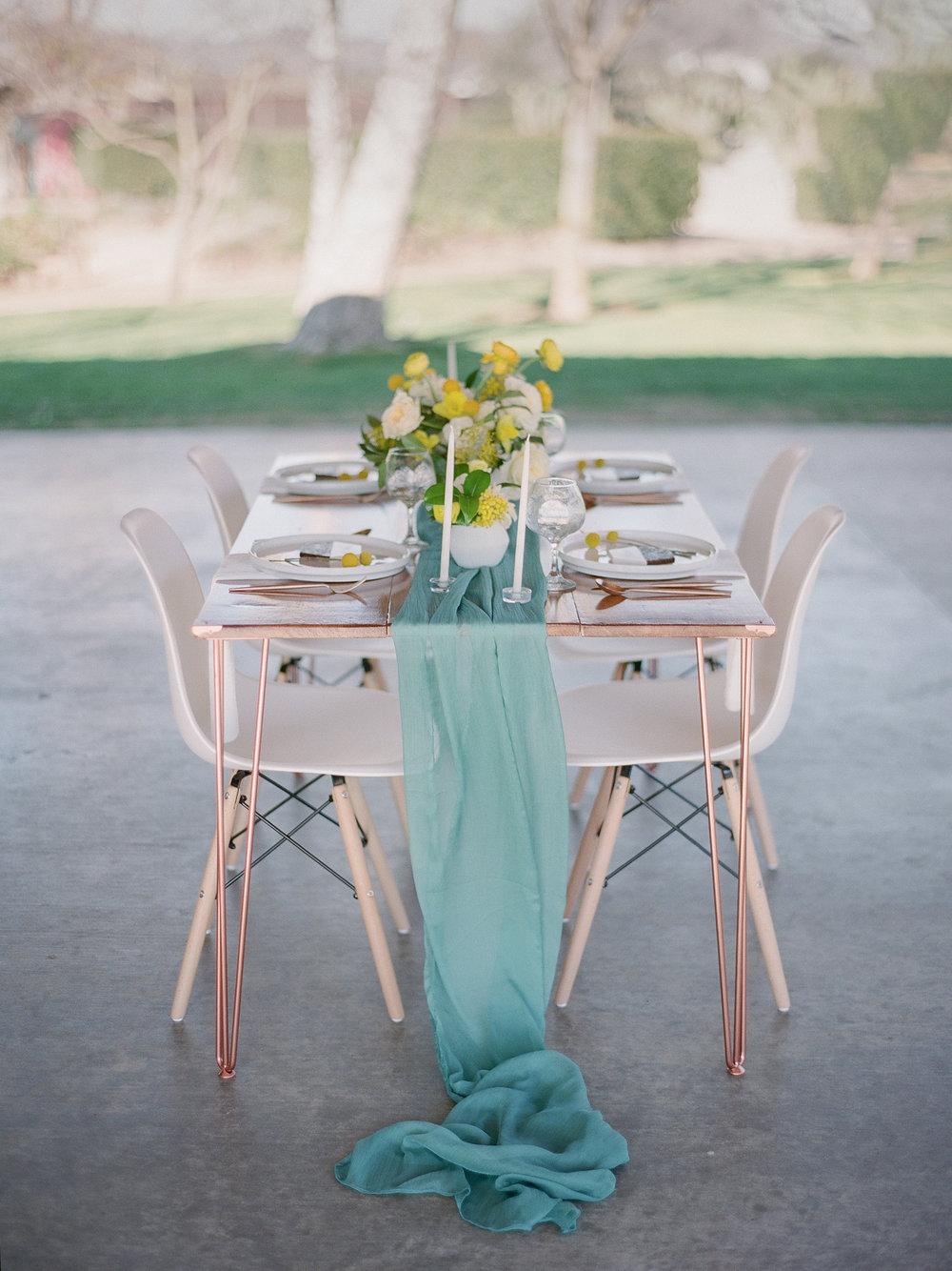mid century modern wedding table idea