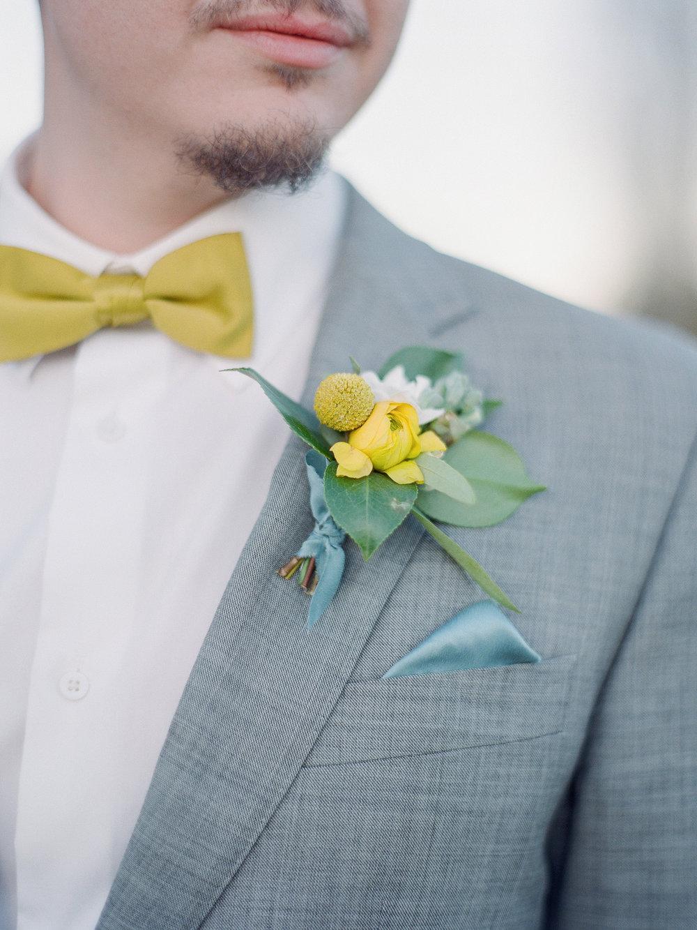 mid century inspired groom