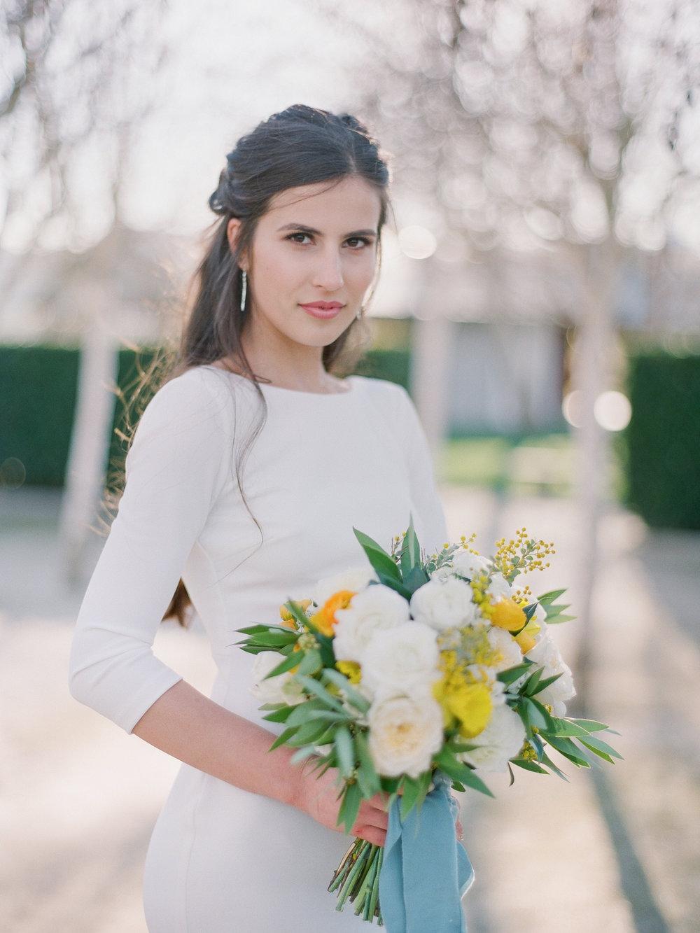 mid century modern bride