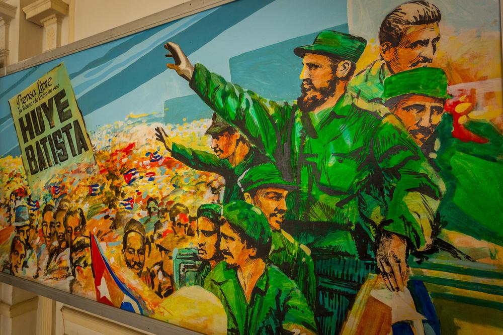 A classic rebel propaganda poster in Castro's Museum of the Revolution. 20mm f/8.0 1/15sec
