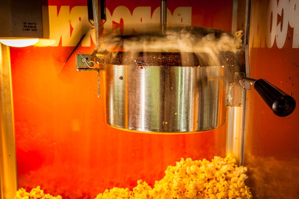 Slow release shutter popcorn popping. 40mm f/11.0 0.4sec