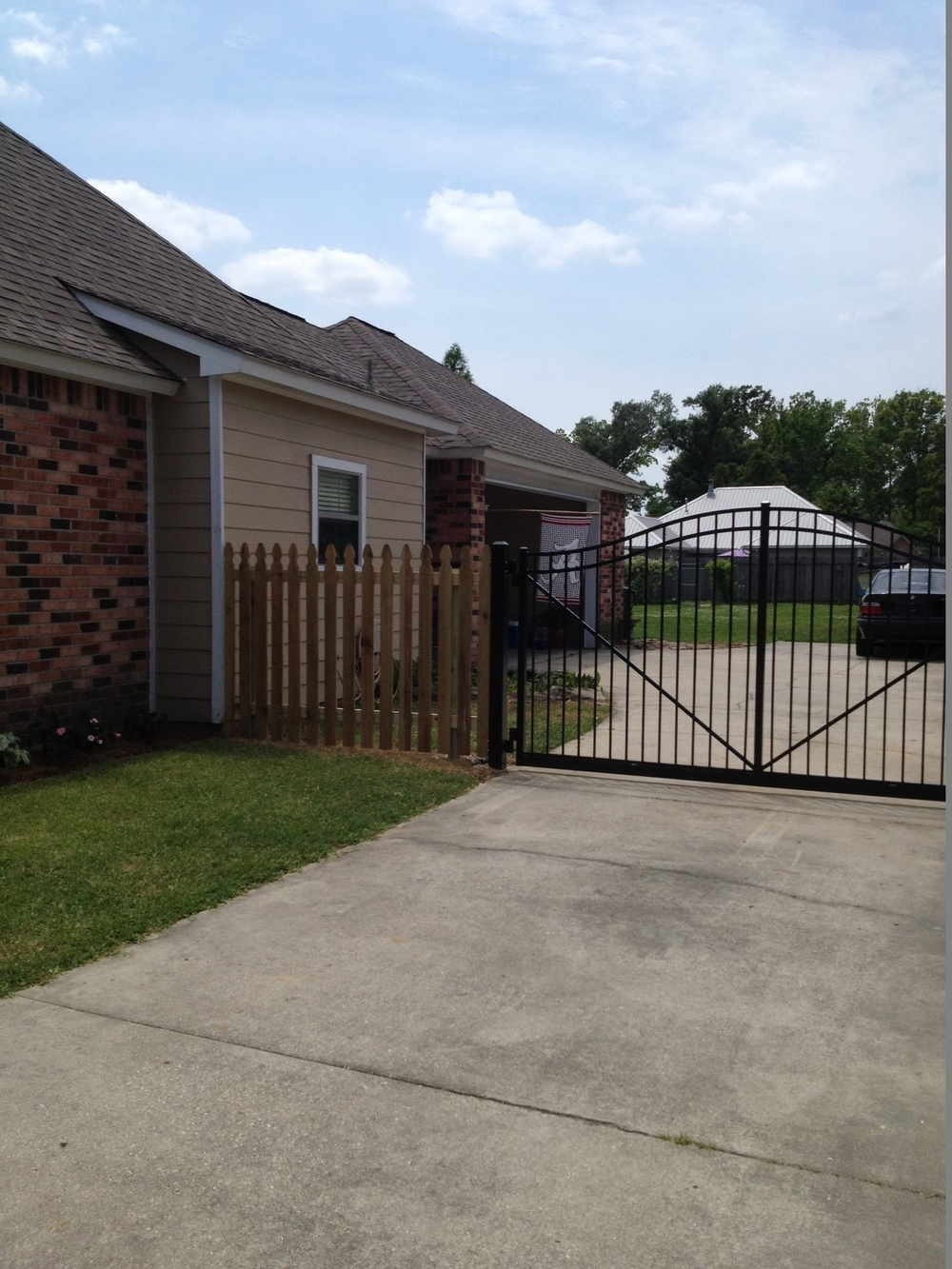 Before staining fence - Prairieville, La