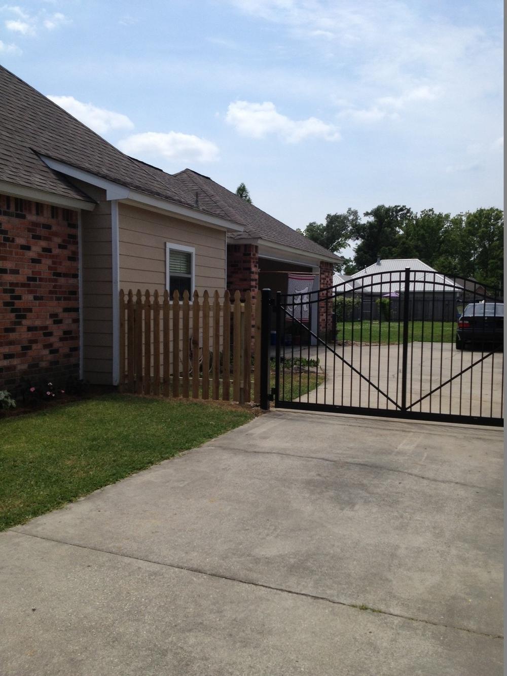 Before staining fence - Prairieville, La