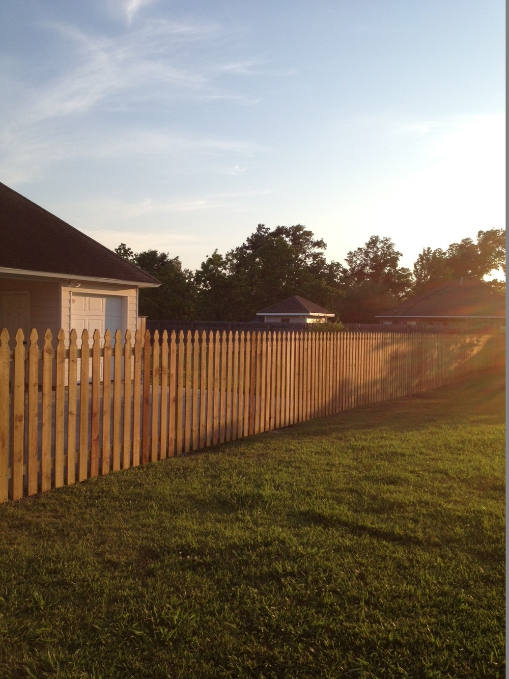Baton Rouge Painter - Fence before staining