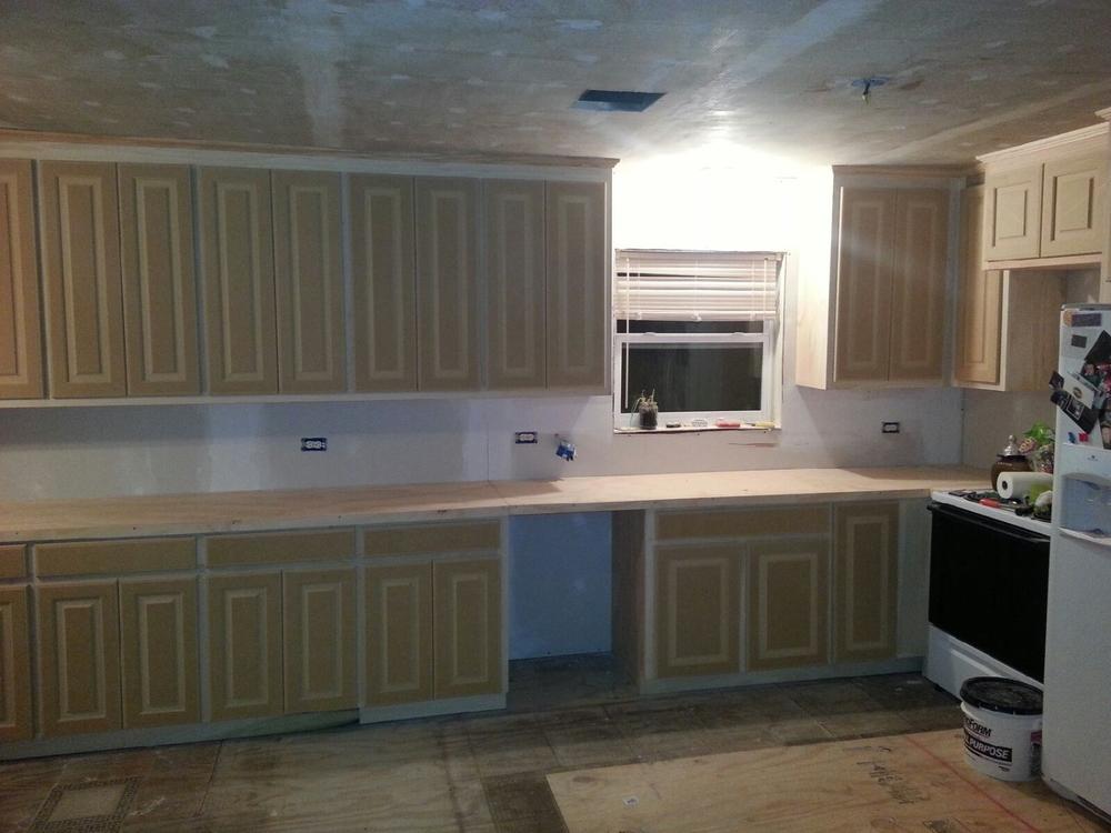 Custom grade paint cabinets (BEFORE) - Baton Rouge, La