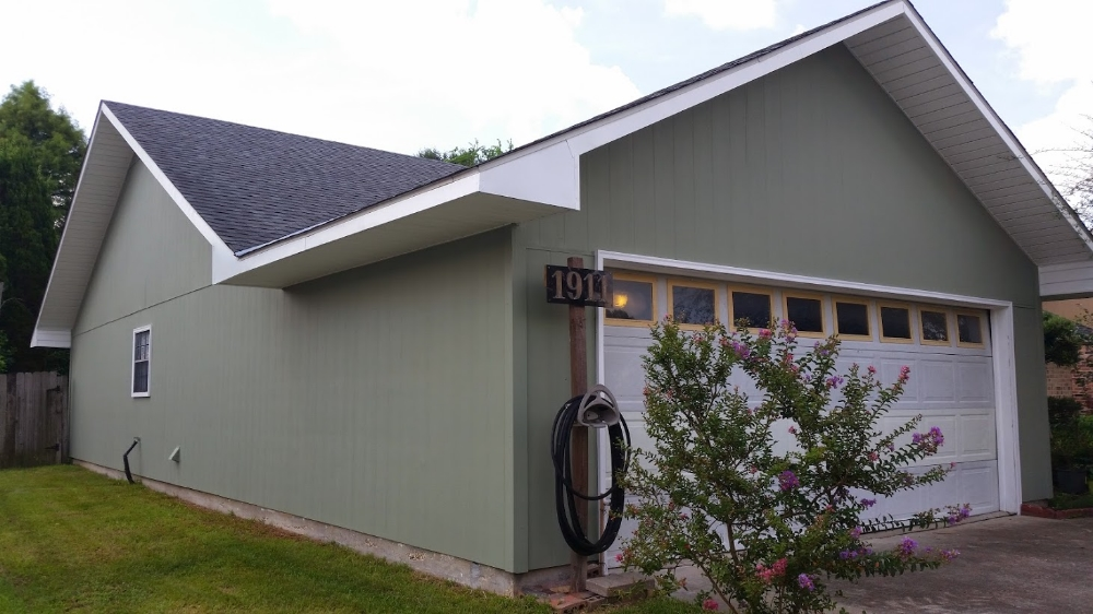 AFTER painting - Exterior hardy board siding
