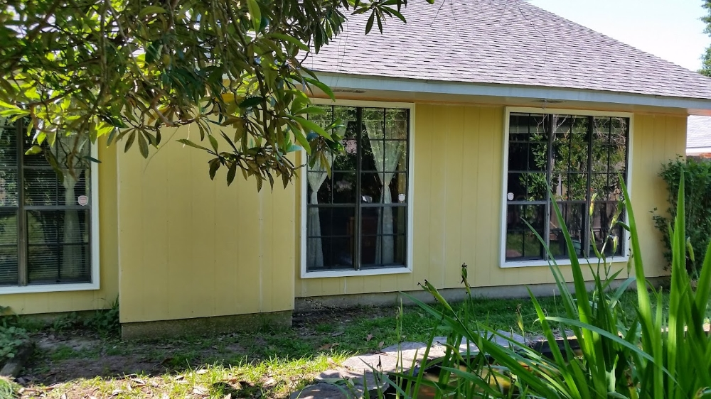 BEFORE painting - Exterior hardy board siding
