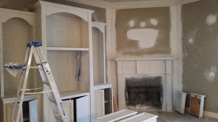 DURING Interior Painting