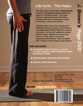 J. Brown's Yoga DVD is here.  Order now,