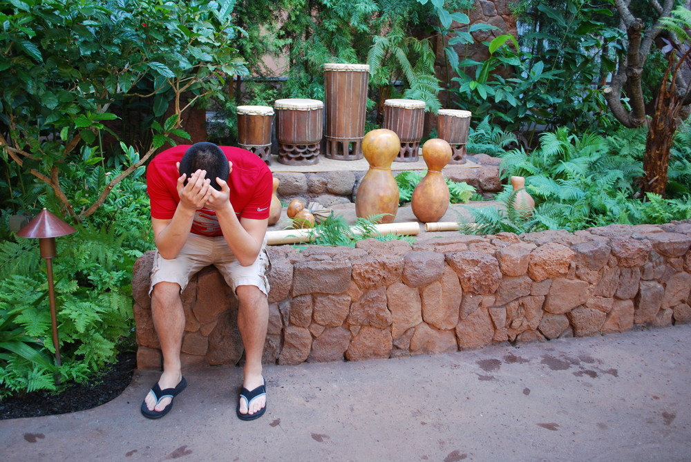 Aulani Disney Resort, Oahu | Melvin had post-buffet depression.