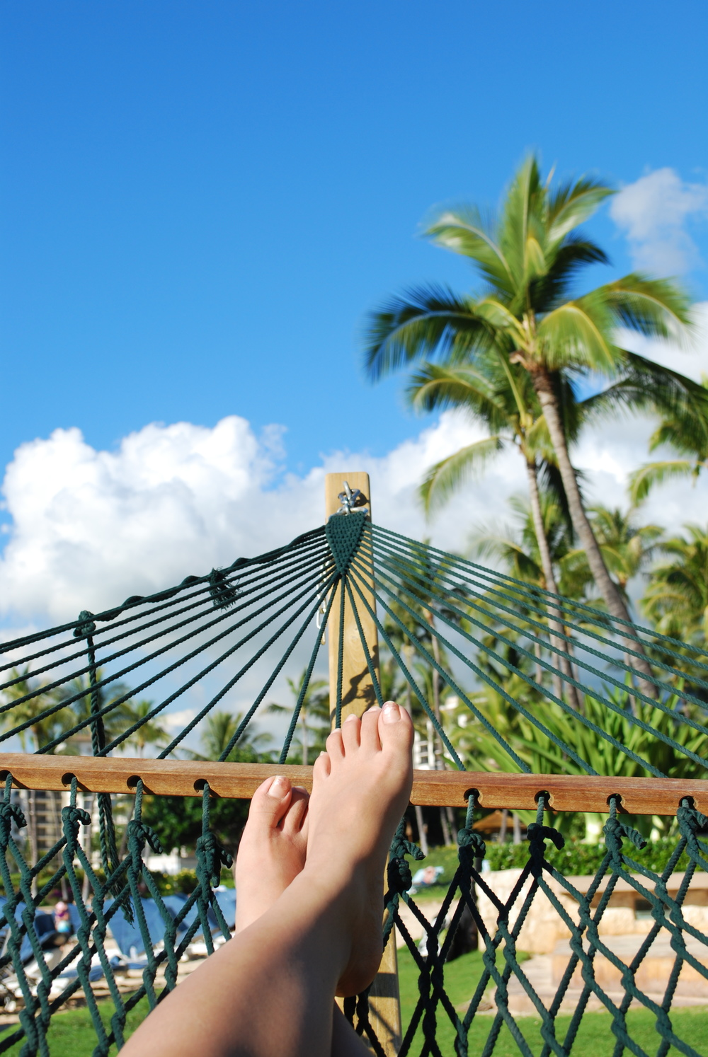 Ko Olina Resort, Oahu | I, of course, took some time to relax on a hammock near the beach.