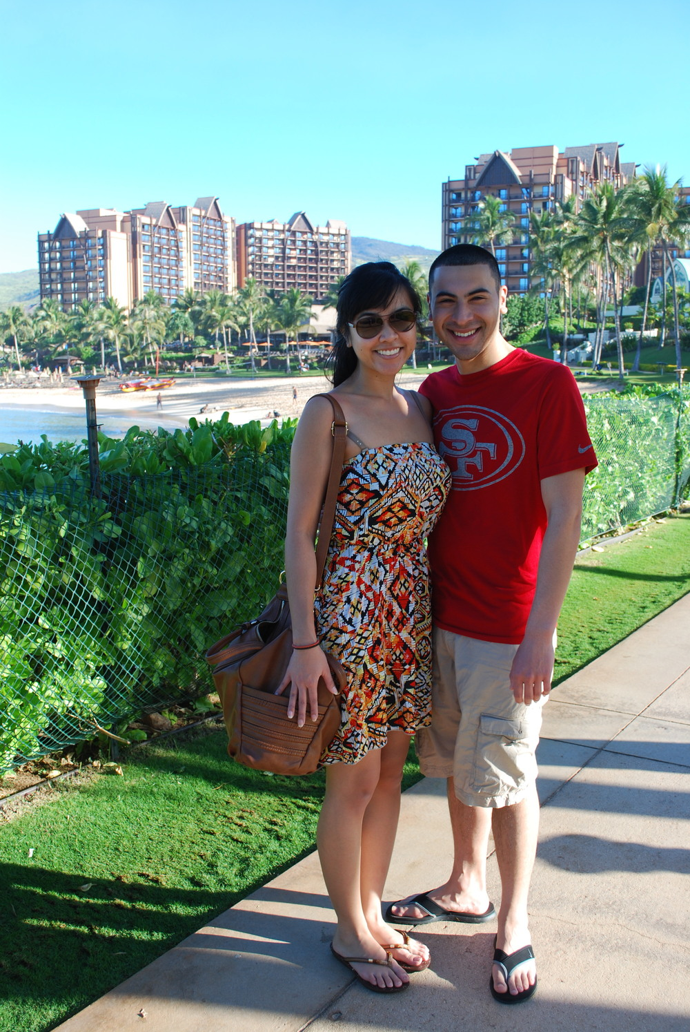 Ko Olina Resort, Oahu | Melvin and I on our way to the Aulani Disney Resort for breakfast.