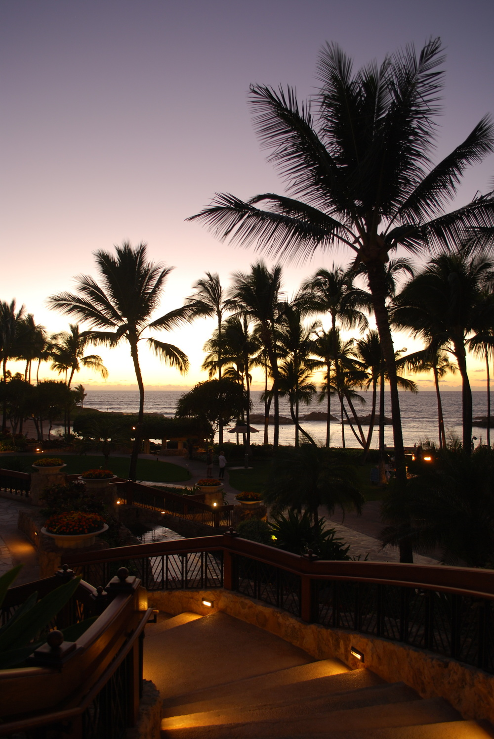 JW Marriott Ihilani Resort & Spa at Ko Olina, Oahu | The sunset on our first night.