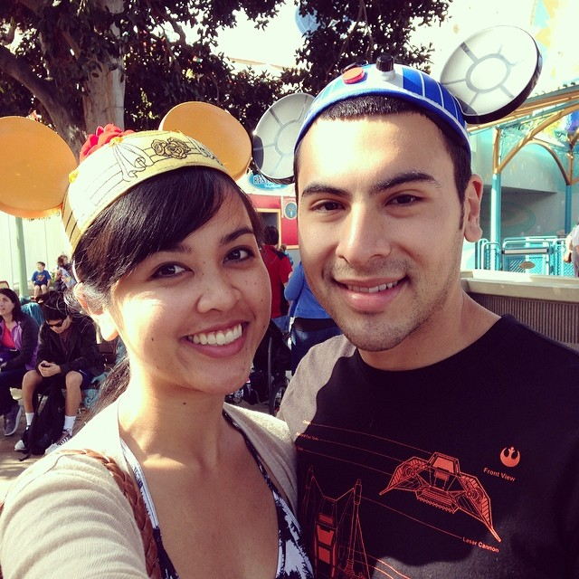 02.15.14: Went to Disneyland with this guy and his family, and it was our first time there together.