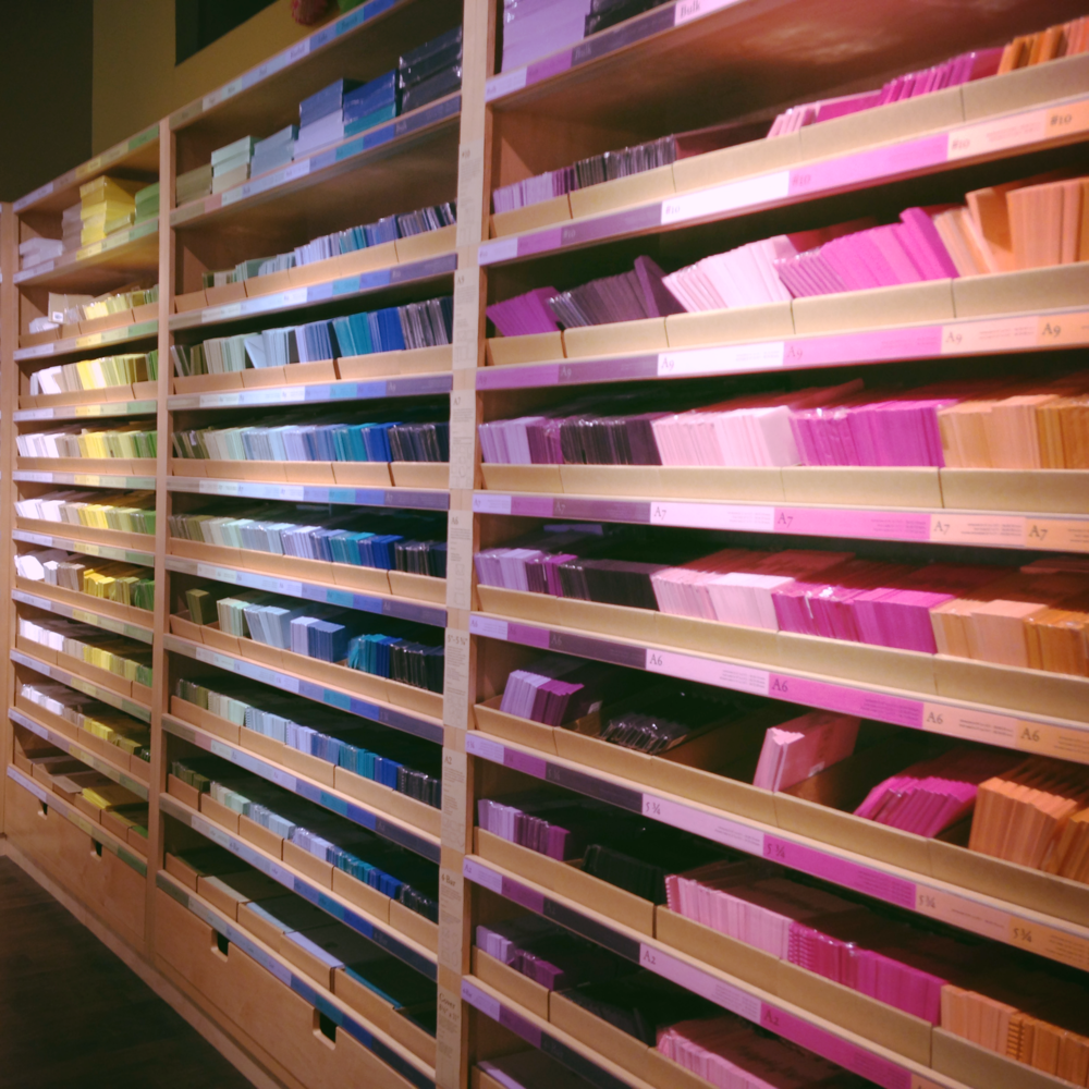 Stared at the wall of color in Paper Source...